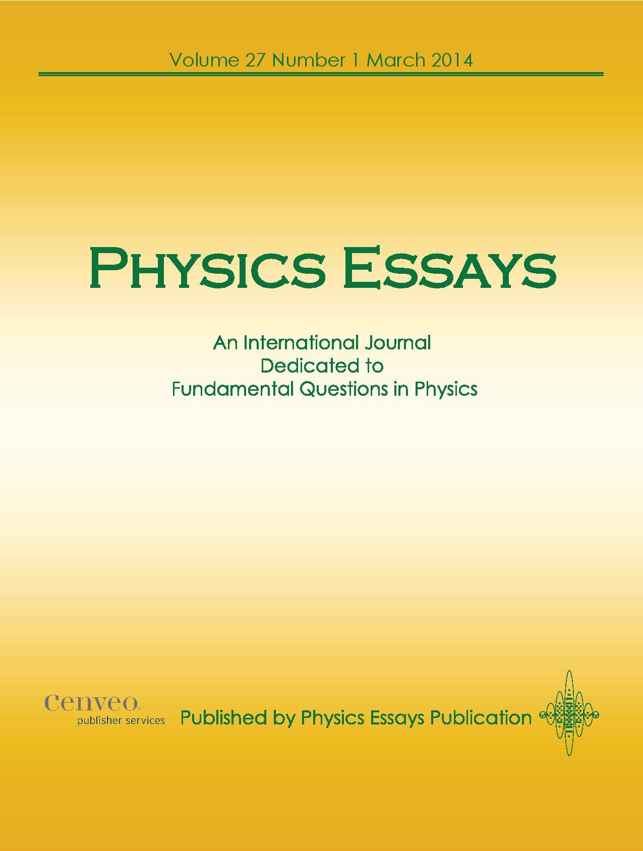 Physics essay publication